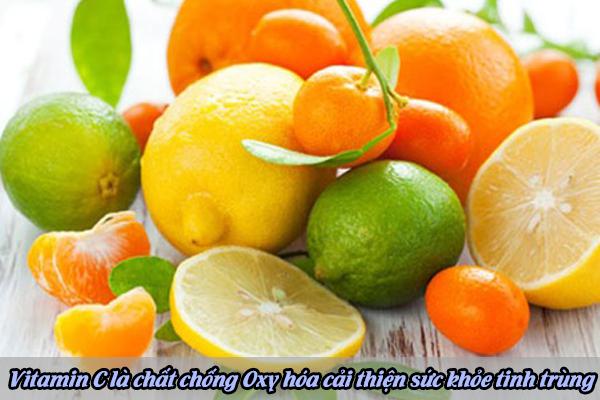 vitamin c là chất chống oxy hóa cải thiện sức khỏe tinh trùng